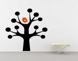 Whimsical Tree with Bird - Vinyl Wall Art Decal - $36.00
