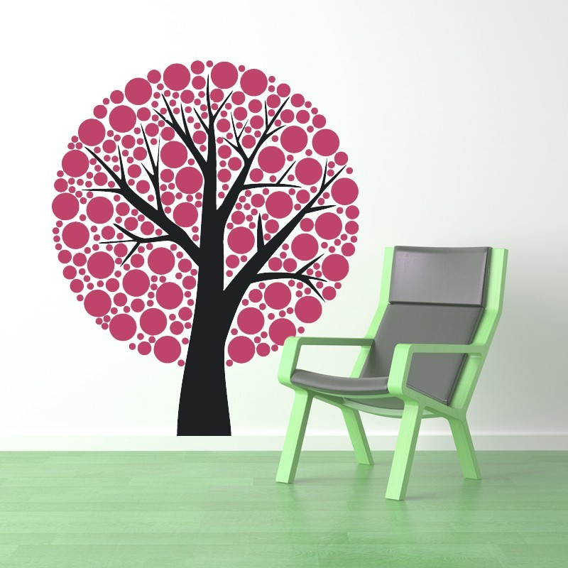 Primary image for Tree of Polka Dots - Vinyl Wall Art Decal