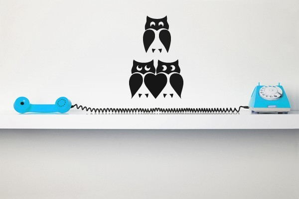 Cute Owl Set (Lot of 2) - Vinyl Wall Art Decal