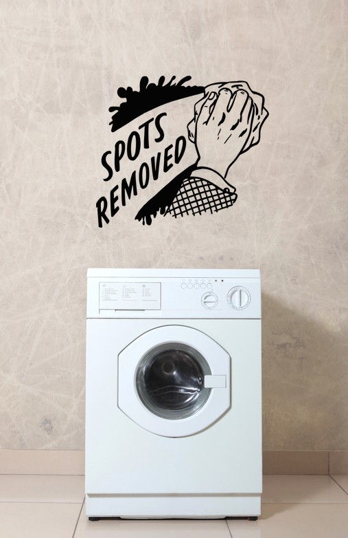 Primary image for Laundry Spots Removed Retro Ad - Vinyl Wall Art Decal
