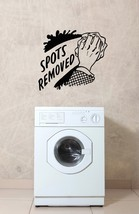 Laundry Spots Removed Retro Ad - Vinyl Wall Art Decal - $26.00