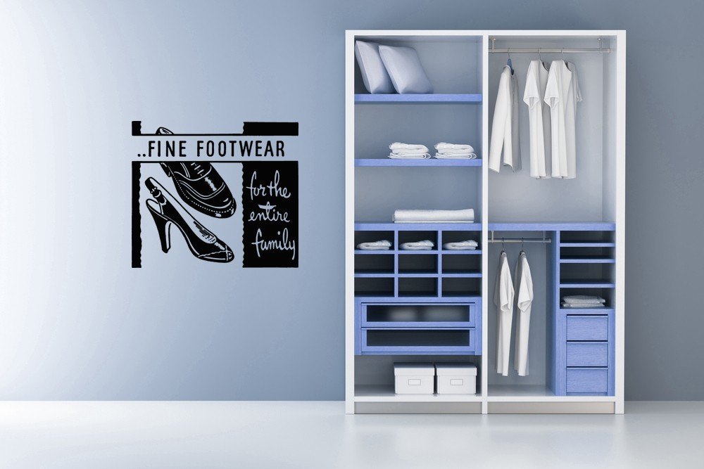 Primary image for Fine Footwear Retro Ad - Vinyl Wall Art Decal