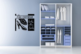 Fine Footwear Retro Ad - Vinyl Wall Art Decal - $26.00