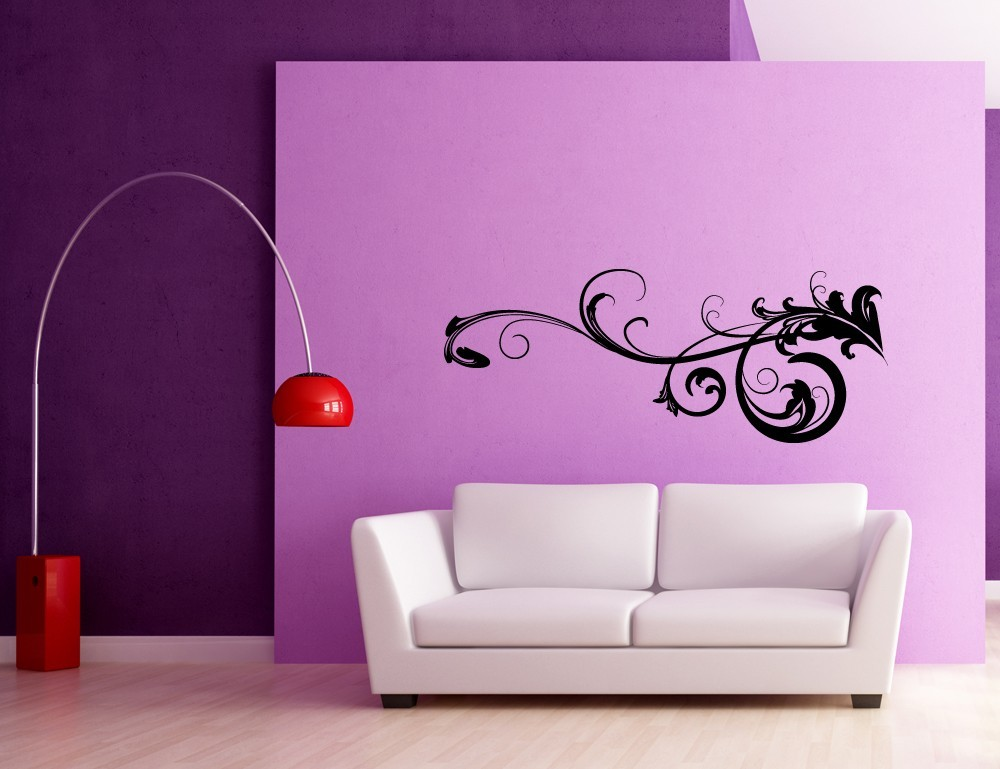 Decorative Baroque Flourish - Vinyl Wall Art Decal