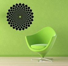 Retro Geometric Medallion - Vinyl Wall Art Decal - $59.00