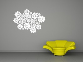 Field of Daisies - Vinyl Wall Art Decal - $32.00
