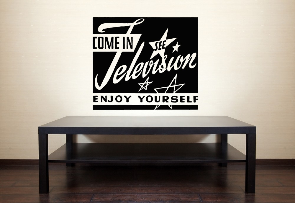 Television Retro Ad - Vinyl Wall Art Decal
