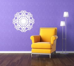 Organic Symmetrical Medallion - Vinyl Wall Art Decal - $34.00