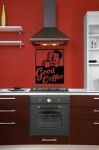Good Coffee Retro Ad - Vinyl Wall Art Decal - $26.00