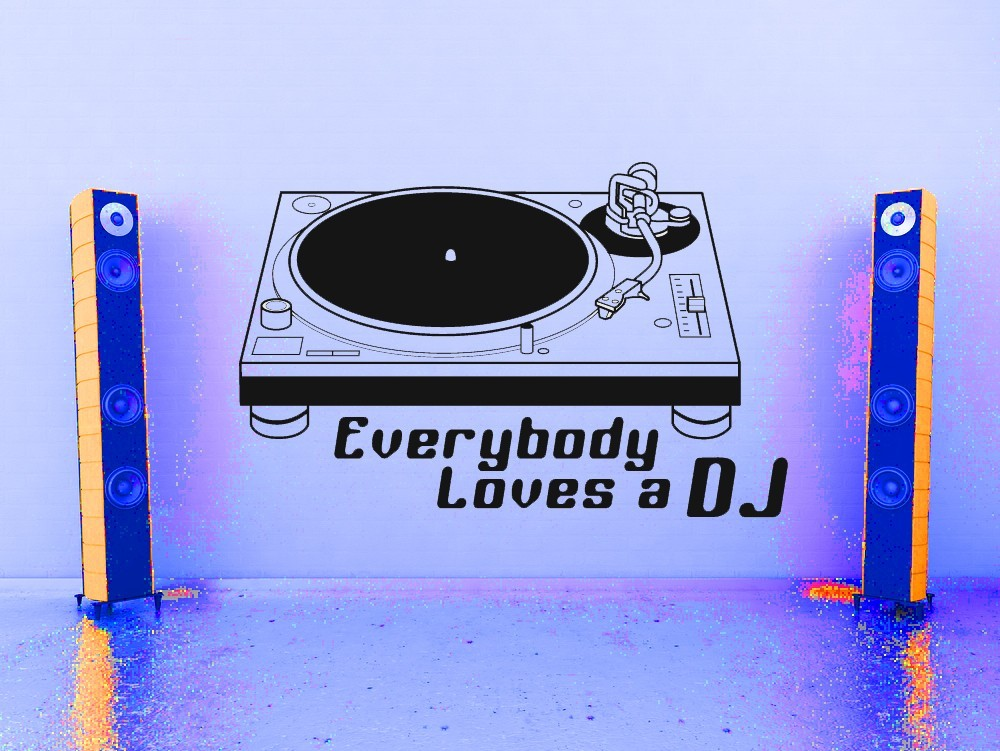 Retro Record Player - Vinyl Wall Art Decal