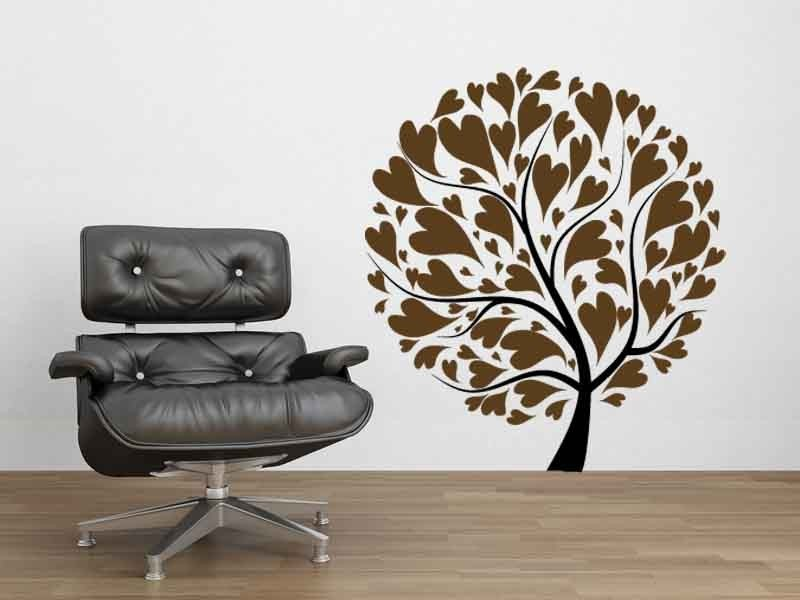 Love Tree made of Heart Leaves - Vinyl Decal