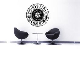 Zodiac Horoscope Wheel - Vinyl Wall Art Decal - $69.00