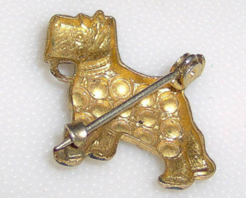 Old Clasp Vintage Cute Scottie Scottish Terrier Dog Pin