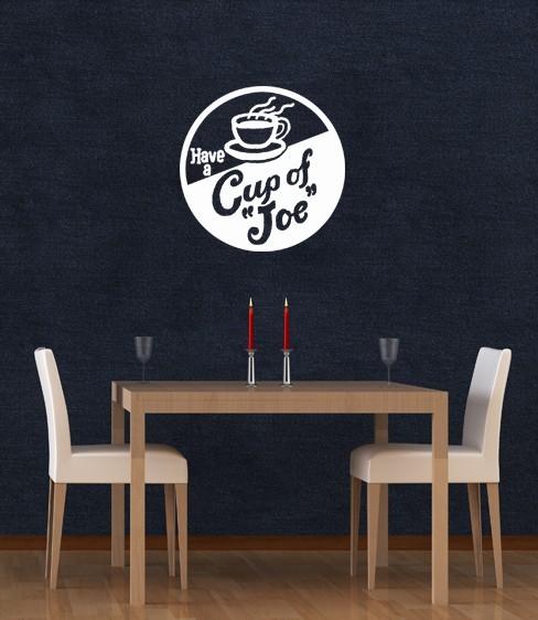 Cup of Joe Vintage Ad - Vinyl Wall Art Decal