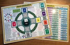 Tarot Divination Laminated Chart: Layouts & Explanations! - $7.95