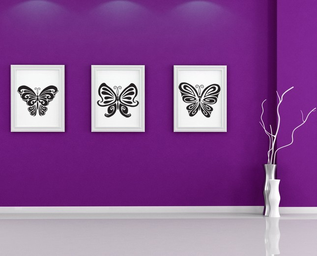Butterflies (Lot of 3) - Vinyl Decal Wall Art