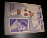 Sheet music too many parties and too many pals helen moretti billy rose 1925 leo feist 01 thumb155 crop