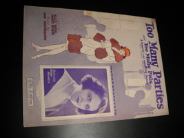 Sheet music too many parties and too many pals helen moretti billy rose 1925 leo feist 01 thumb200