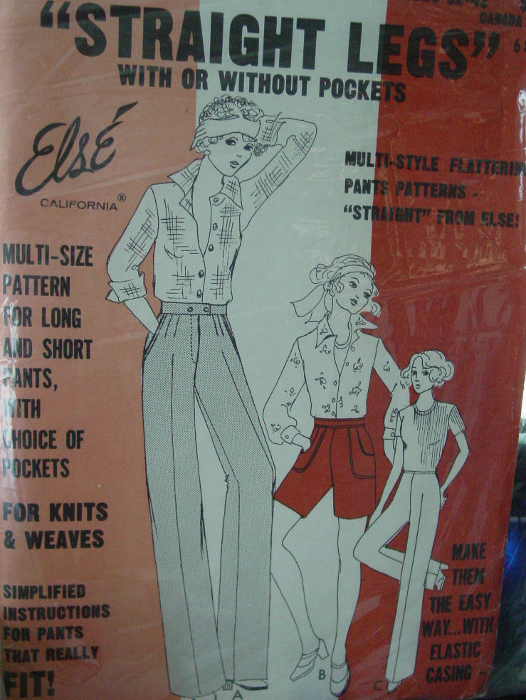 """Pattern 32""""-42"""" hip Straight Legs Pants or Shorts w/without pockets"""