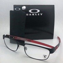 New Ferrari OAKLEY Eyeglasses CARBON PLATE OX5079-0455 Black Red w/ Carb... - $299.95