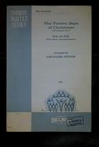 "Vintage 1966 Chorus Builder Series ""THE TWELVE DAYS OF CHRISTMAS""  SHEET... - $9.50"