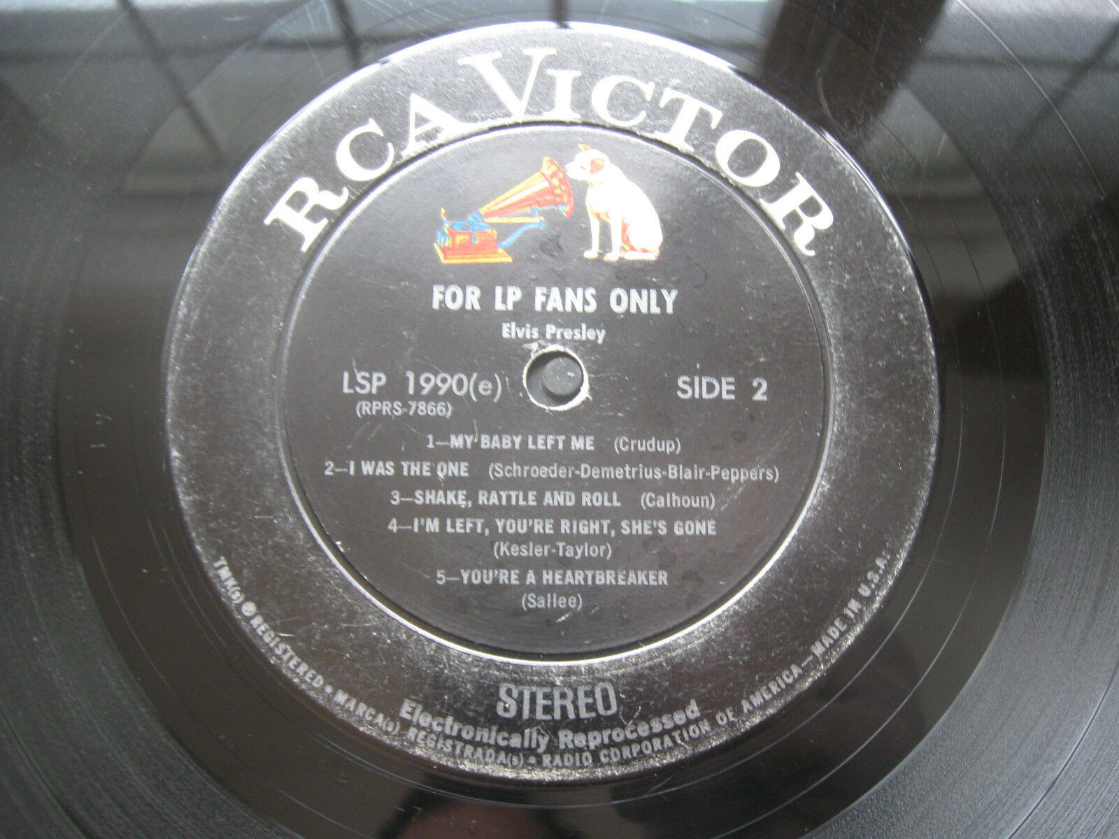 Elvis Presley For LP Fans Only RCA LSP-1990e Stereo Vinyl Record LP RARE Version image 5