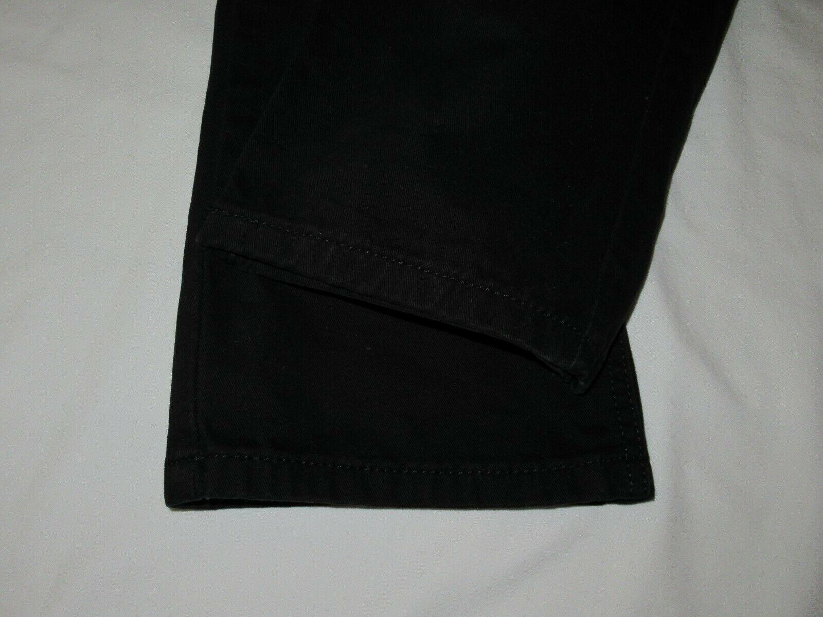 Boys Levis 505 Straight Black Denim Jeans Size 10 Reg Short! Brushed Cotton Warm image 9