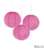 Hot Pink Chevron Lanterns - $12.49