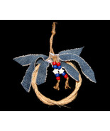 Handcrafted Western Rope and Denim Christmas Ornament - $10.98