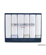 UMO LORENZO 6 Pack Mens Multicolor Cotton Handkerchiefs - $14.99
