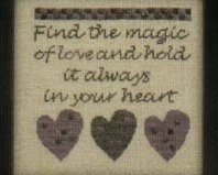 The Magic of Love cross stitch chart Twisted Threads