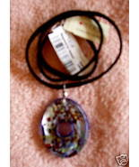 NEW FUSED ART GLASS & STERLING PENDANT $60 FROM MACY's - $27.30