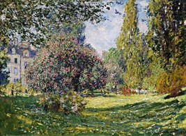 Landscape The Parc Monceau Painting by Claude Monet Art Print Reproduction - $32.99+