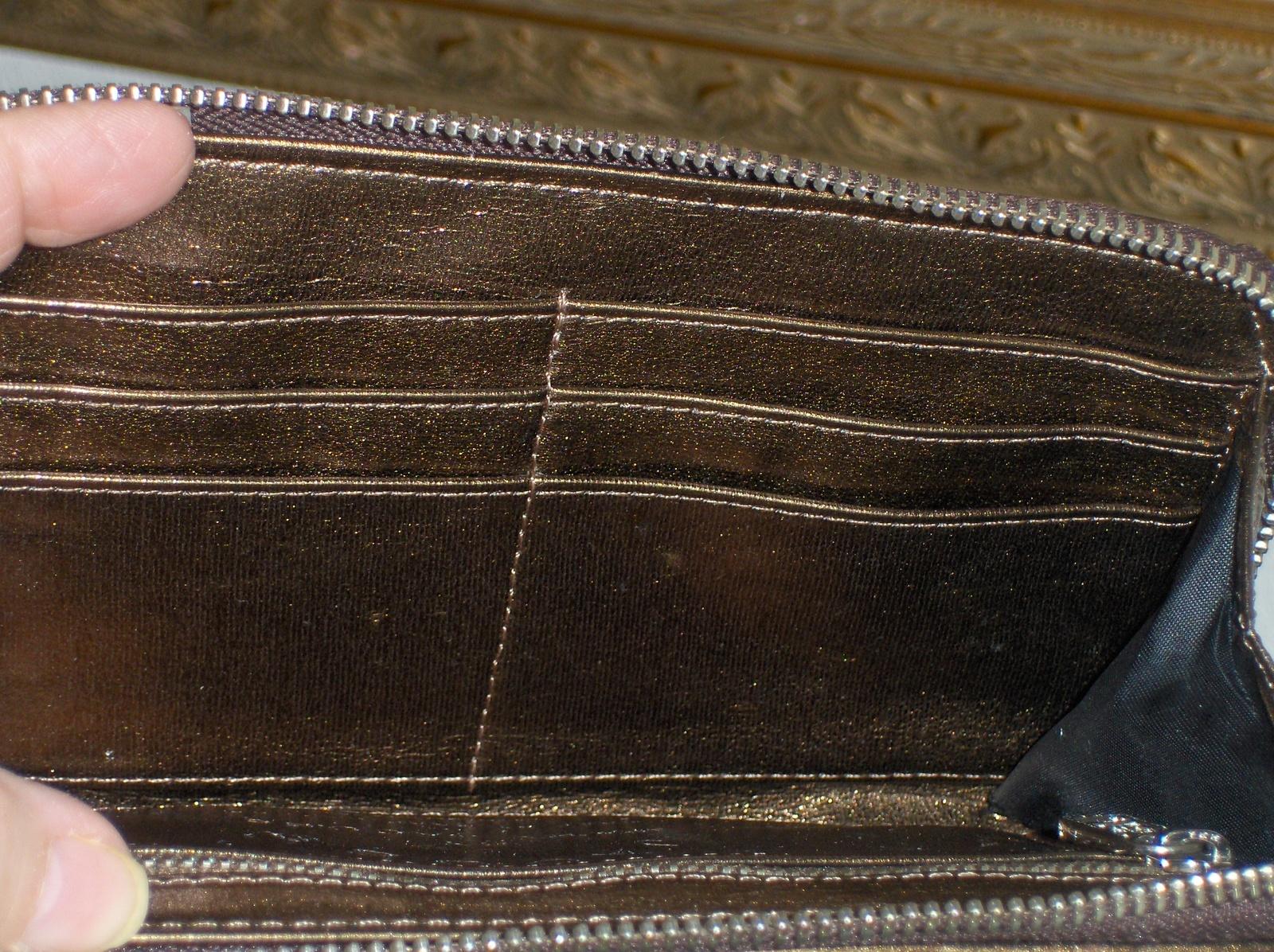 Marc Jacobs Womens Clutch Wallet Quilted Satin Brown Zip Around Wristlet Purse