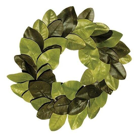 "22"" Elegant Farmhouse Magnolia Leaves Wreath Joanna Chip Gaines Inspired - $43.99"