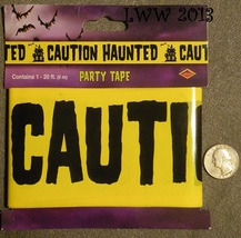 Caution Haunted Yellow Halloween Haunted House Caution Tape 20 Feet Long - $3.99