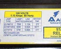 Advance Ballast 120V T2 60Hz REL-2P60-S-A R2E75STP
