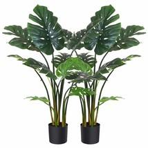 """Fopamtri Artificial Monstera Deliciosa Plant 43"""" Fake Tropical Palm Tree... - $118.99"""