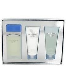 Dolce & Gabbana Light Blue 3.3 Oz EDT + Body Cream + Shower Gel 3 Pcs Gift Set image 2