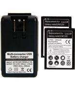 2 replacement battery and Wall Charger for Samsung Galaxy Note 2 II All ... - $24.75+