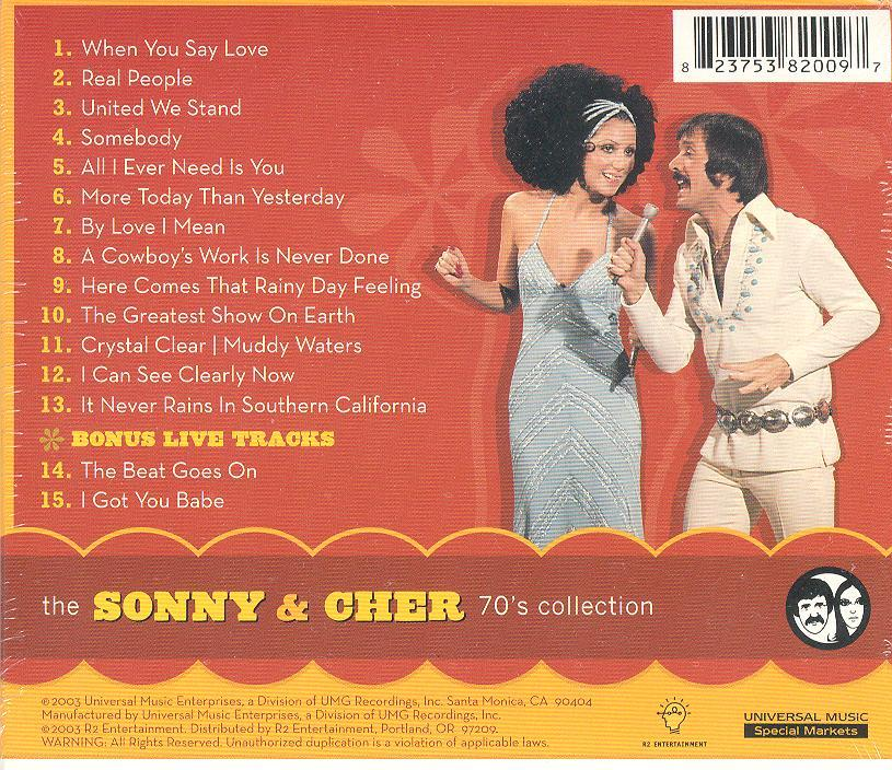 Sonny & Cher 70's Collection CD I Got You Babe 2003 Sealed