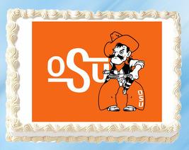 "Oklahoma State Edible Image Topper Cupcake Cake Frosting 1/4 Sheet 8.5 x 11"" - $11.75"
