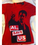 """MARC JACOBS Al Gore limited edition red """"Al, Save Us"""" tee T-shirt small ... - $49.99"""