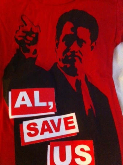 """MARC JACOBS Al Gore limited edition red """"Al, Save Us"""" tee T-shirt small NWT RARE"""