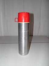 Vintage King Seeley Thermos Quart Size Ribbed Aluminum Insulated # 2484 - $13.86