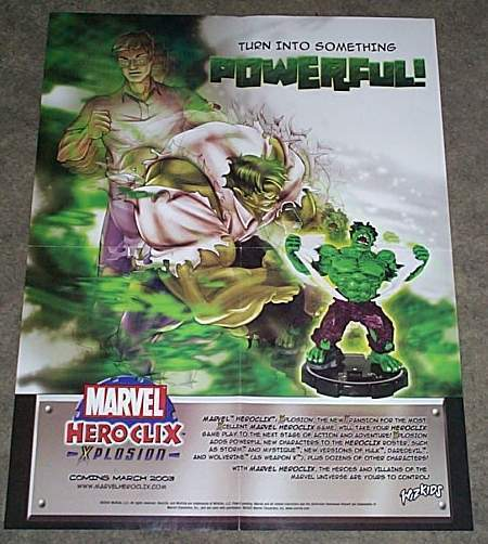 Primary image for RARE MARVEL COMICS HULK HEROCLIX FIGURE 22 x 17 PROMO POSTER