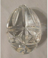 """Crystal Lead WATERFORD 2000 Annual Egg Paperweight 3-1/2"""" Long VINT Sign... - $109.99"""