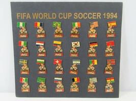 FIFA World Cup Soccer 1994 Pins Pinbacks Stryker Mascot Coca Cola Football Flags - $38.52