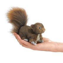 (Ship from USA) Red Squirrel Finger Puppet, Fol... - $14.57