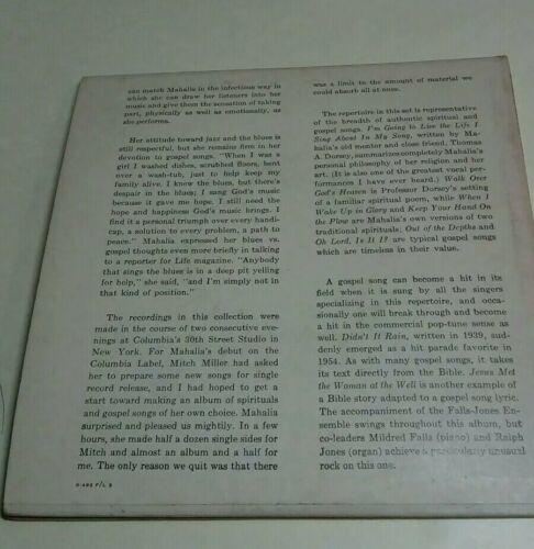 1955 MAHALIA JACKSON WORLD GREATEST GOSPEL SINGER 2 RECORD SET 45 PICTURE B-492